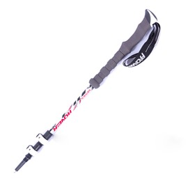 Lightweight Couple Triarticular Hiking Trekking Stick Pole Alpenstock