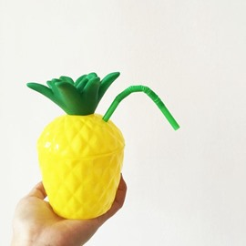 Cute Food Degree Silicon Pineapple Outdoor Drinking Cup