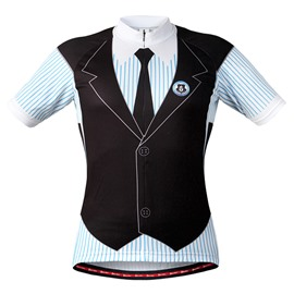 Male Outdoor Breathable Business-Suit-Like Quick-Dry Short Sleeve Cycling Shirt