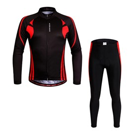 Men's Thermal Biking Outfit 3D Padded Shorts Set Cycling Clothing