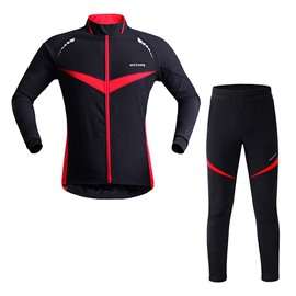 Men's Black Thermal Biking Outfit 3D Padded Long Sleeve Cycling Clothing