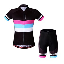 Colorful Stripes Women's Outdoor Sports Jersey 3D Padded Cycling Clothing
