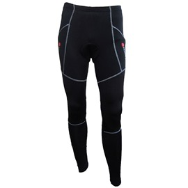 Men's Black Padded Cycling Compressiong Pants Outdoor Tights
