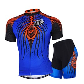 Male Exaggerate Evil Pattern Breathable Short Sleeve Jersey Full Zipper Quick-Dry Cycling Suit