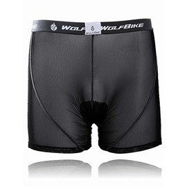 Male Black Breathable Road Bike Underwear Quick-Dry Cycling Shorts