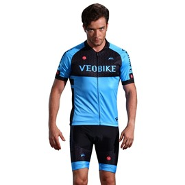 3D Silicone Blue Padded for Bike Men Cycling Jersey Set