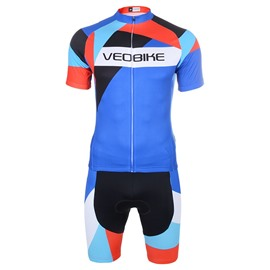 3D Silicone Magic Cool Color Padded for Bike Men Cycling Jersey Set