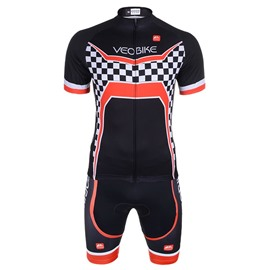 Men's Cycling Clothing Black Set Breathable Quick Dry Jersey Glitter