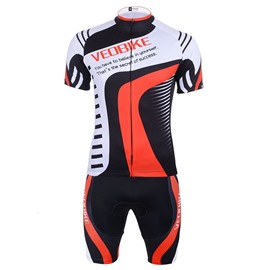 Men's Cycling Red Block Clothing Set Breathable Quick Dry Jersey Glitter