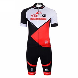 Black Red 3D Padded Pants Comfortable Men Women's Cycling Jersey