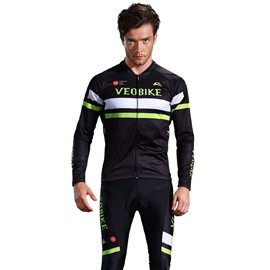 Black 3D Padded Pants Road Bike Comfortable Men's Cycling Jersey