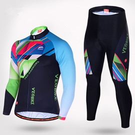 Men's Cycling Multicolor Clothing Set Breathable Quick Dry Jersey Glitter