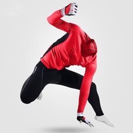 Men's Cycling Red Clothing Set Breathable Quick Dry Jersey Glitter