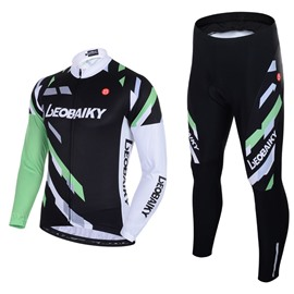 Men's Cycling Clothing Set Breathable Quick Dry Long Sleeve Jersey Shadow