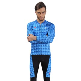Blue Shark Breathable Quick Dry Long Sleeve Men's Cycling Jersey
