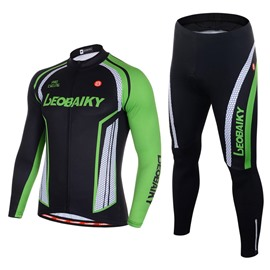 Men's Cycling Clothing Set Breathable Quick Dry Long Sleeve Jersey Vitality