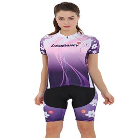 Cherry Floral Pattern Jersey Shirt Quick Dry Breathable Clothing Bike