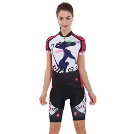 Cycling Jersey Shirt Quick Dry Cat Lady Pattern Clothing Bike