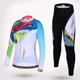 Color Blocking Style Elastic Breathable Cycling Clothing