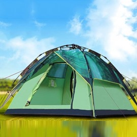 3-4 Person Green Galaxy Pattern Double Layers with Rainfly Hiking and Camping Tent