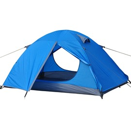 1-2 Person Waterproof Double Layers and Double Doors Camping and Hiking Tent