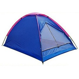 2 Person Outdoor Single Layer Lightweight Windproof Fiberglass Skeleton Camping and Hiking Tent