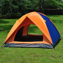 3-4 Person Contrast Color Outdoor Double Layers and Double Doors Camping and Hiking Tent