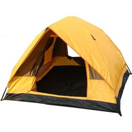 3-4 Person Outdoor Instant Fiberglass Skeleton Outdoor Single Layer Hiking and Camping Tent