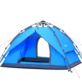 3-4 Person Outdoor Spring Automatic Fiberglass Camping and Hiking Waterproof Tent