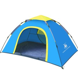 2-Person Outdoor Contrast Color Mono-layer with Fiberglass Skeleton Instant Camping Tent