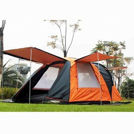 3-4 Person Waterproof One Bedroom and One Living Room Instant Camping Tent