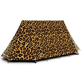 3-Person 3D Leopard Print Quick-Set up Outdoor Waterproof Camping Tent