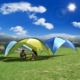 5-8 Person Waterproof Windproof Lightweight Rainfly Sunshade Shelter UV-Protection Camping Shade Canopy