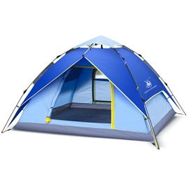 3-4 Person Outdoor Hiking Waterproof Camping Tent Automatic Pop Up Quick Shelter