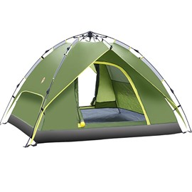 Waterproof 3-4 Persons Double-layer Automatic Speed Open Throwing Pop Up Tent