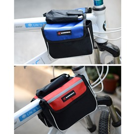 Double Waterproof Bike Front Frame Tube Bag Cycling Rear Seat Trunk Bag