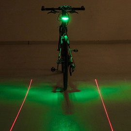 Luminous Plus Ground Parallel Red Laser Bicycle Rear Lamp