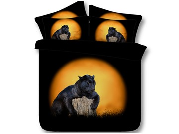 Black Panther Printed 4-Piece 3D Bedding Sets/Duvet Covers