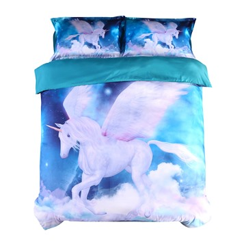 Vivilinen Unicorn and Galaxy Printed 4-Piece 3D Bedding Sets/Duvet Covers