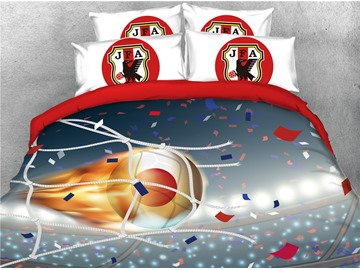 3D World Cup Soccer Group H Printed 4-Piece Bedding Sets/Duvet Covers