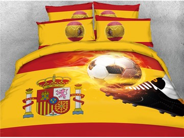 Group B World Cup Soccer 3D Printed 4-Piece Bedding Sets/Duvet Cover