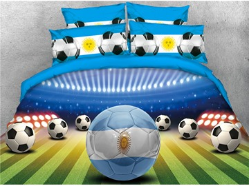3D Soccer World Cup Group D Printed 4-Piece Bedding Sets/Duvet Covers