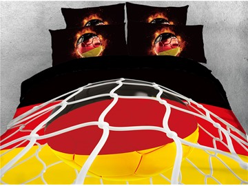 3D Group F World Cup Soccer Printed 4-Piece Bedding Sets/Duvet Covers