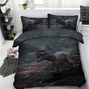 Tyrannosaurus Rex 3D Printing Polyester 4-Piece Bedding Sets/Duvet Cover
