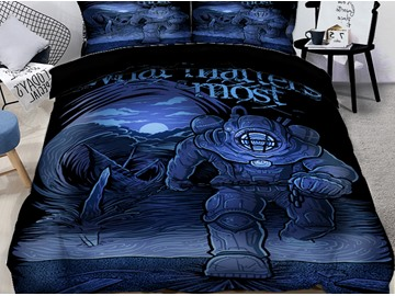 3D Skull and Mythical Monsters Printing Polyester 4-Piece Bedding Sets/Duvet Covers