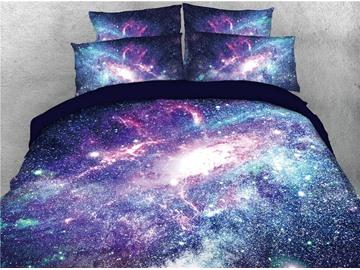 Magic Shining Galaxy Printing Cotton 3D 4-Piece Bedding Sets/Duvet Covers