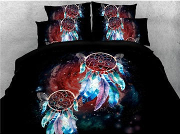 Sleepwish Dream Catcher and Galaxy Printed 4-Piece 3D Bedding Sets/Duvet Covers