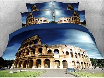 Roman Colosseum Famous Building Printed 4-Piece 3D Bedding Sets/Duvet Covers