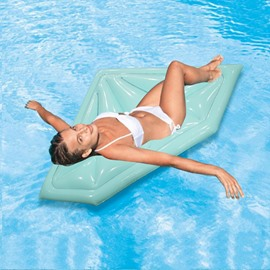 Outdoor Sky Blue Diamond Swimming Pool Inflatable Float Raft
