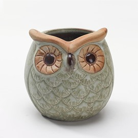 Wonderful Ceramic Owl Design Flower Succulent Pot Holder